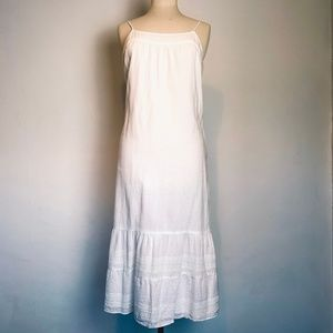 Vintage White Ruffle Prairie Slip Dress